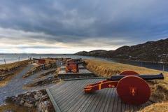 Nyholmen sconce w Bodo Norway w zimie Obraz Stock