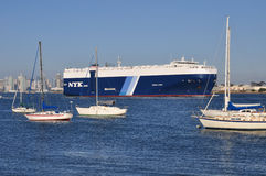 NYK cargo ship Royalty Free Stock Image