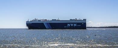 NYK Line Freighter Near St Simons, Georgia Editorial Image - Image