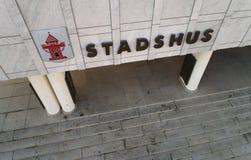 Nykoping urzędu miasta zakończenie up Zdjęcie Stock