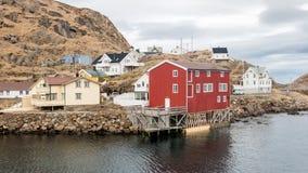 Nyksund auf Langoya in Vesteralen, Norwegen Lizenzfreies Stockfoto