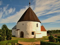 Nylars kirke. Nylars kirke-kościłó rotunda of the Danish island of Bornholm. Built in 1150, one of the most interesting sights of the island Royalty Free Stock Images