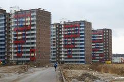 Nyligen builded bostadsområde Arkivbild