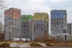 Nyligen builded bostadsområde Royaltyfri Bild
