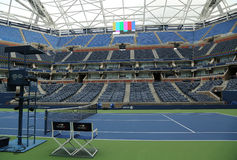 Nyligen förbättrade Arthur Ashe Stadium på Billie Jean King National Tennis Center Royaltyfri Fotografi