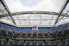 Nyligen förbättrade Arthur Ashe Stadium på Billie Jean King National Tennis Center Fotografering för Bildbyråer