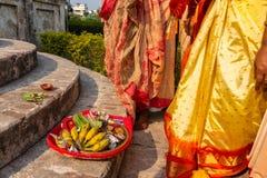 Nyligen gift indisk kvinna royaltyfria foton