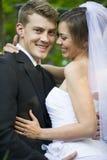 Nyligen gift par royaltyfria bilder