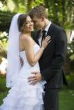 Nyligen gift par royaltyfria foton