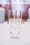 Nyligen gift parexponeringsglas Royaltyfria Bilder