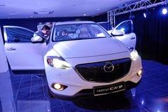 Nyligen lanserade Mazda CX-9 i Singapore Arkivbild