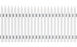 Vit valt staket som isoleras på vit arkivfoto