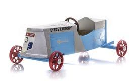 NYLINT звезда Muncie, покатые герои умирают модель бросания победителя 1934 коробки Дерби мыла на белой предпосылке Стоковые Изображения