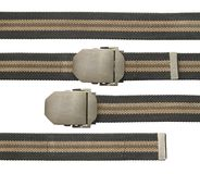Nylon belt military style. With clipping path isolated on white background royalty free stock images