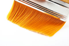 Nylon broad brush. Closeup view Royalty Free Stock Image