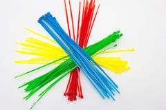 Nylon cable ties Royalty Free Stock Image