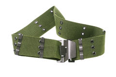 Nylon Canvas Army Belt Stock Image