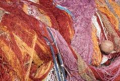 Nylon fishing nets stock photos
