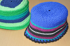 Nylon hats Stock Photo