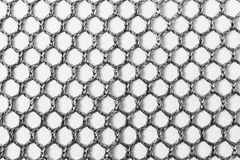 The nylon net texture background in back and white Royalty Free Stock Image