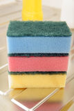 Nylon pan scourers Royalty Free Stock Photo
