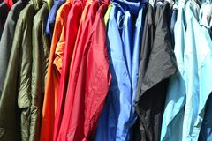 Nylon Raincoats Stock Photos