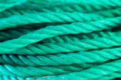 Nylon rope. Macro detail of a nylon rope Royalty Free Stock Images