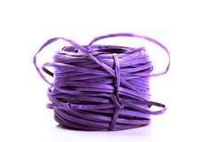 Nylon rope bundle. Over white background Royalty Free Stock Photos
