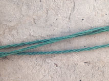 Nylon rope and cement. Royalty Free Stock Photography