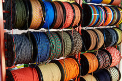 Nylon rope for climbing Stock Images