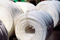 Free Nylon Rope Factory, Rope Factory, Rubber Production. Stock Photography - 155048152