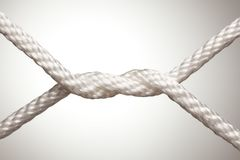 Nylon Rope Knot Royalty Free Stock Image