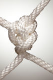 Nylon Rope Knot Royalty Free Stock Photos