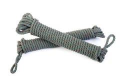 Nylon rope on white Stock Photo