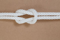 Nylon rope on wooden background Stock Image