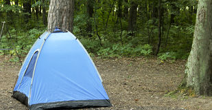Nylon tent in camp site Royalty Free Stock Image