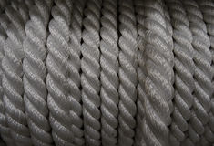 Nylon winding rope in the roll at the hardware shop stock photo Royalty Free Stock Image