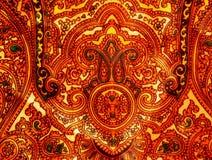 Nylonowy szalik z Tajlandzkim wzorem Zdjęcia Stock