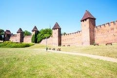 Nymburk - hradby, ściana Zdjęcia Royalty Free