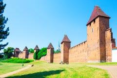 Nymburk - hradby, ściana, Obraz Stock