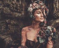 Nymfkvinna arkivfoton