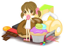 Nymph of sweets, create by vector Stock Photo