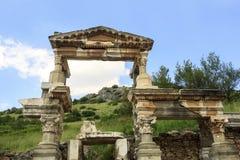 Nymphaeum de Trajan en Ephesus, Turquía Imagen de archivo libre de regalías