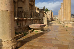 Nymphaeum, Jerash Stock Afbeelding