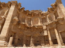 The nymphaeum of Jerash, Jordan. The nymphaeum in the roman ancient city of jerash, jordan Royalty Free Stock Photography