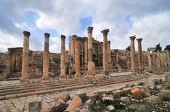 Nymphaeum - Jerash, Jordan. The Nymphaeum in Jerash, Jordan. Jerash is the site of the ruins of the Greco-Roman city of Gerasa Stock Image