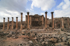 Nymphaeum - Jerash, Jordan. The Nymphaeum in Jerash, Jordan. Jerash is the site of the ruins of the Greco-Roman city of Gerasa Stock Photo