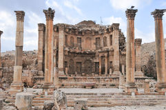 Nymphaeum - Jerash, Jordan. The Nymphaeum in Jerash, Jordan. Jerash is the site of the ruins of the Greco-Roman city of Gerasa Stock Images