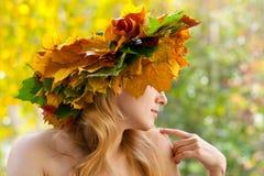 Nymphe d'automne photo libre de droits