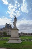 Nymphe Statue, Paris, France. Statue of Diane by Louis Auguste Leveque, Jardin des Tuileries, Paris, France Stock Image
